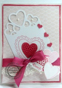 Valentine Card using the Artisan Embellishment Ki