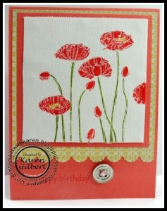 Stamping Poppies
