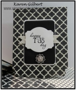 Black and White Wedding Card