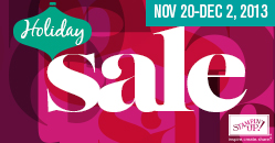 Stampin Up 2013 Holiday Sale