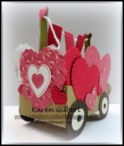Valentines Day Heart Cart