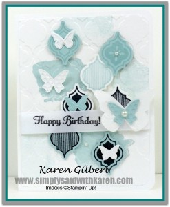 Birthday Card CASE from Stampin' Up! 2014/15 Catalogue