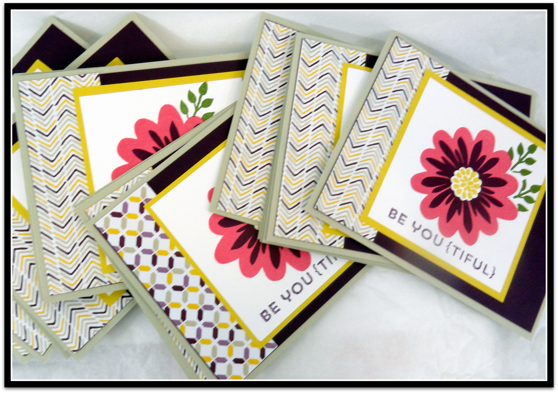 Blooming Flower Patch Handmade Occasion Card