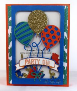 Balloon Birthday Party Card