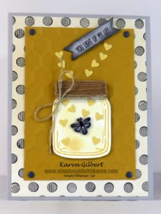 Handmade Yellow handmade valentines day card