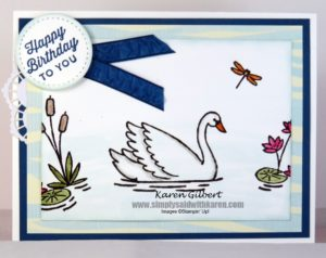 Swan Lake Birthday Card