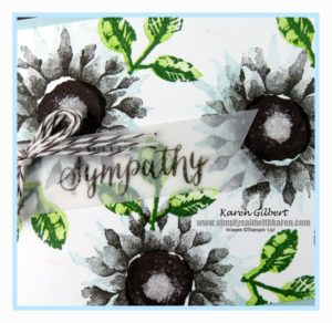 beautiful handmade sympathy card.