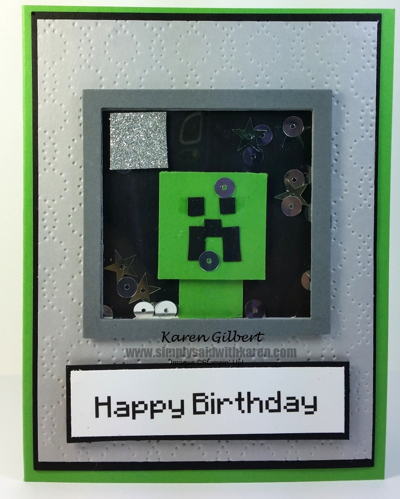 Minecraft birthday card with a shaker surprise minecraft birthday card bookmarktalkfo Gallery
