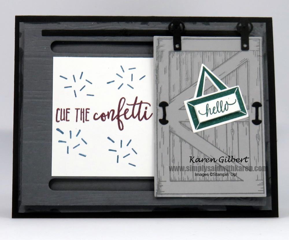Create A Sliding Barn Door Greeting Card
